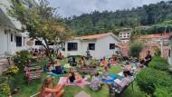 Gestrandete Touristen in Peru: In diesem Hostel in Cusco machen die jungen Gäste das beste aus der Situation.