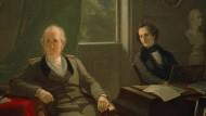 """Felix Mendelssohn-Bartholdy spielt vor Goethe"": 1864 hat Moritz Daniel Oppenheim die Weimarer Szene aus dem Jahr 1830 in einem Gemälde festgehalten."