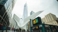 Konflikt vorprogrammiert, Ausgang glimpflich: Freedom Tower an der World Trade Center Station.