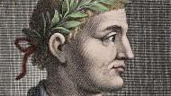 Porträt von Quintus Horatius Flaccus (65 bis 8 vor Christus)