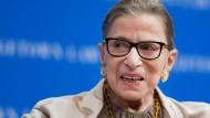 Für ihre Arbeitsdisziplin berühmt: Ruth Bader Ginsburg.