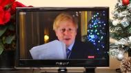 Nächstes Jahr wieder knutschen: Boris Johnsons Weihnachtsansprache