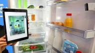 Guck mal, wer da spricht: Mit dem vernetzten Kühlschrank ist vieles möglich.