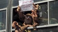 Gruß an die Revolutionäre des Arabischen Frühlings: Im Oktober 2011 ließ Israel diese palästinensischen Gefangenen frei, gedankt wurde es ihm nicht