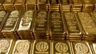 Goldbarren des Herstellers Argor-Heraeus