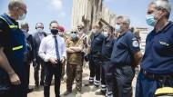Außenminister Heiko Maas am 12. August auf dem Hafengelände in Beirut