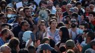 Gegen das Regime: Palästinenser demonstrieren in Ramallah gegen Präsident Abbas.