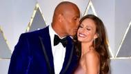 """Seit mehr als zehn Jahren ein Paar: Dwayne """"The Rock"""" Johnson und Lauren Hashian"""