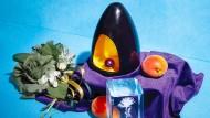 Verpackungsbild wie ein Gemälde: Das Design für die Pacarama-Bohnen soll die Noten des Kaffees widerspiegeln.