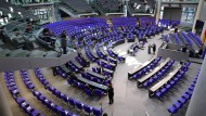 Der Plenarsaal des Bundestags am vergangenen Mittwoch