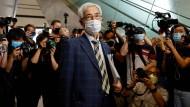 Martin Lee nach der Urteilsverkündung am Freitag im Gericht in Hongkong