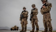 Die Taliban sind nicht weit: Deutschen Soldaten im Camp Marmal in Mazar-i-Sharif im März 2018