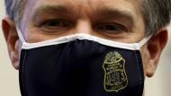 FBI-Direktor Christopher Wray am Donnerstag nach seiner Aussage im Kapitol