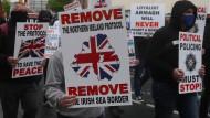 Unionisten protestieren im Juni in Portadown gegen das Nordirland-Protokoll.