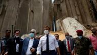 Emmanuel Macron bei seinem Besuch am Donnerstag in Beirut
