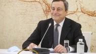 Italiens Ministerpräsident Mario Draghi am Dienstag in Rom bei einem virtuellen Treffen der Tourismusminister der G20