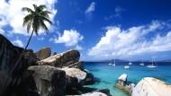 Karibik wie aus der Klischeekiste: die Felsformation The Baths auf der Insel Virgin Gorda