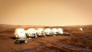 Eher zweckmäßig und erstmal nur Konzept: So soll eine Kolonie auf dem Mars einmal aussehen.