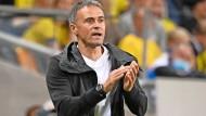Antreiber von der Seitenlinie: Spaniens Coach Luis Enrique