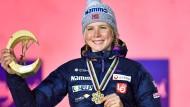 """""""Ich will lieber eine lange Karriere haben"""": Maren Lundby, hier bei der Ski-WM im März"""