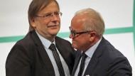 Entzweit: Fritz Keller (rechts) und Rainer Koch
