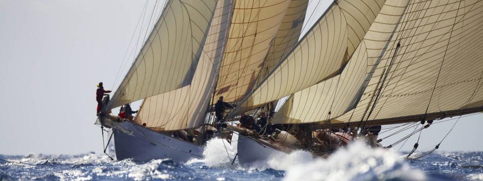 Klassische Maarbeit Yachten der Meterklasse