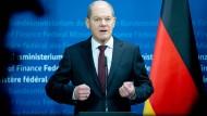 """Finanzminister Olaf Scholz will eine """"bissige"""" Finanzaufsicht schaffen."""