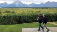 Die Ruhe täuscht: Jerome Powell mit dem New Yorker Fed-Präsident John Williams in Jackson Hole