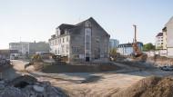 Nach der Genehmigung: Baustelle in München-Pasing