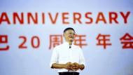 Am reichsten: Jack Ma auf der Feier zum 20jährigen Bestehen von Alibaba im September