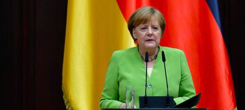 Angela Merkel am Mittwoch bei einer Veranstaltung zum Weltflüchtlingstag
