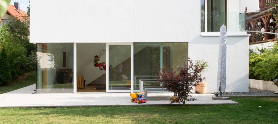 Moderner Anbau An Altes Haus Das Doppelhaus Mit Dem Neuen Anbau Es Handelt Sich Eigentlich