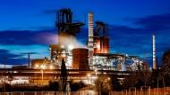 Das Duisburger Stahlwerk von Thyssen-Krupp