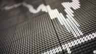 An der Börse fallen die Kurse auf breiter Front.