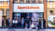 Sportscheck-Filiale in der Münchener Fußgängerzone