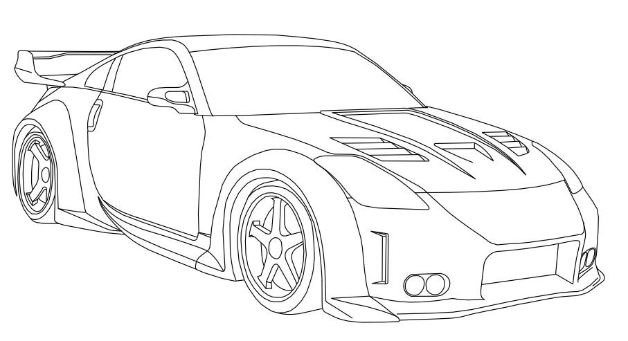 Free nissan gtr 35 coloring pages