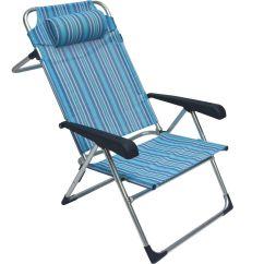 Beach Chair Cover Boat Deck Chairs Bushtec High Back Blue Striped Buy