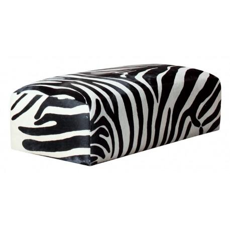 footstool bout de lit valencia zebre ph collection banquette design