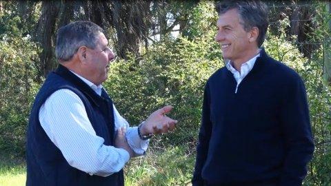 Mauricio Macri y Alfredo de Angeli en Entre Ríos