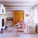 Wohnzimmer Mit Kamin In Einem Deutschen Bild Kaufen 707298 Living4media