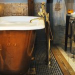 Antique Copper Bathtub With Brass Tap Buy Image 11026826 Living4media