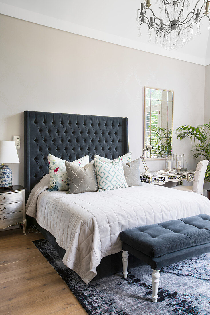 Double Bed With Tall Headboard And Buy Image 12408834 Living4media