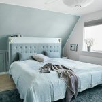 Schlafzimmer In Blau Und Weiss Unter Der Bild Kaufen 12371930 Living4media