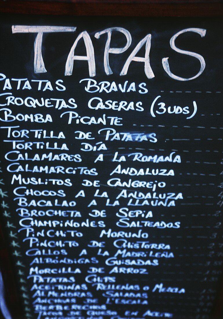 Apa Itu Menu Bar : Tapas, Blackboard, Image, 185046, Living4media