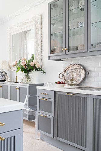 Pale Grey Kitchen Counter Wall Units Buy Image 12577330 Living4media
