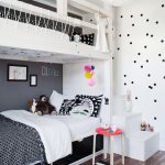 White Wooden Bunk Beds With Black And Buy Image 11248493 Living4media