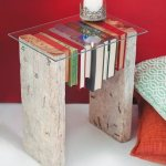 Diy Side Table Made From Two Rustic Buy Image 11986065 Living4media