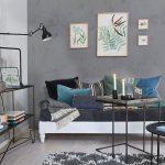 Wohnzimmer Mit Grau Bemalten Wanden Und Bild Kaufen 12454473 Living4media