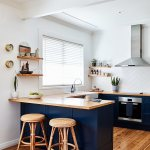 Wicker Stools At Counter In Open Plan Buy Image 12524985 Living4media