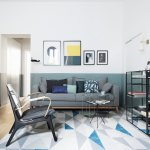 Modern Living Room In Shades Of Blue Buy Image 12621977 Living4media